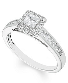 Certified Diamond (4/5 ct. t.w.) Engagement Ring in 14k White Gold