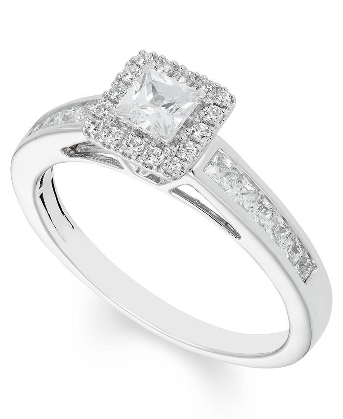 Macy's - Certified Diamond (4/5 ct. t.w.) Engagement Ring in 14k White Gold