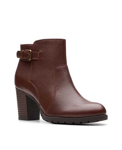 Clarks Collection Women's Verona Leather Gleam Booties