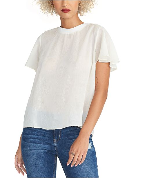 RACHEL Rachel Roy Bridget Flutter-Sleeve Top