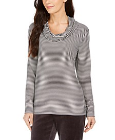 Striped Cowl-Neck Top, Created for Macy's