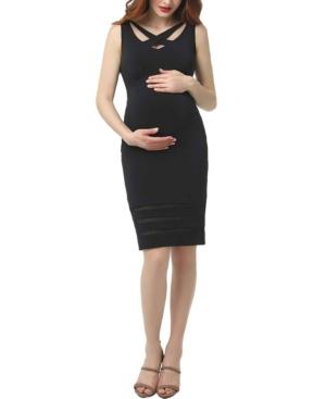 Kimi + Kai Valerie Maternity Body-Con Midi Dress