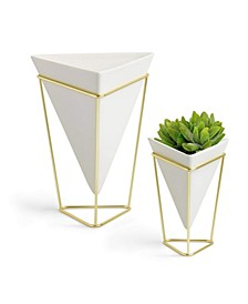 Geometric Vase Set, Pack of 2