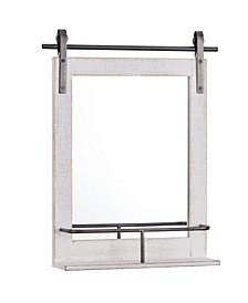 Ivywood Barn Door Mirror With Shelf