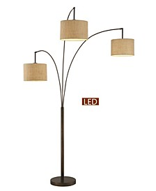 """Lumiere Modern LED 80"""" 3-Arched Floor Lamp with Dimmer"""