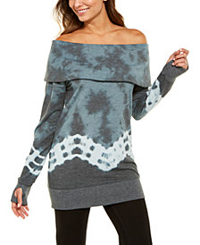 Ideology Tie-Dyed Off-The-Shoulder Sweatshirt, Created for Macy's