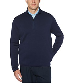 Men's Quarter-Zip Fleece-Lined Golf Sweater
