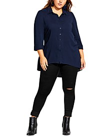 Trendy Plus Size Everyday Longline Shirt