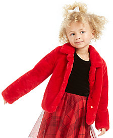 Epic Threads Little Girls Faux-Fur Jacket, Created For Macy's