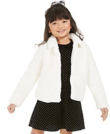 Little Girls Faux-Fur Jacket, Created For Macy's