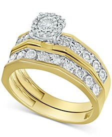 Diamond Halo Bridal Set (1/3 ct. t.w.) in 14k Gold