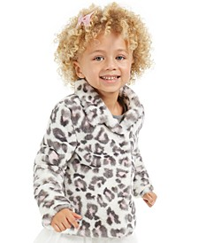 Little Girls Snow Leopard Faux-Fur Jacket, Created For Macy's