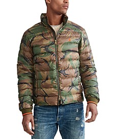 Men's Big & Tall Camo Light Weight Packable Down Jacket