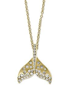 "EFFY® Diamond Whale Tale 18"" Pendant Necklace (3/8 ct. t.w.) in 14k Gold"