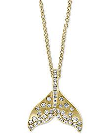 "EFFY® Diamond Whale Tale 18"" Pendant Necklace (3/8 ct. t.w.) in 14k Gold"