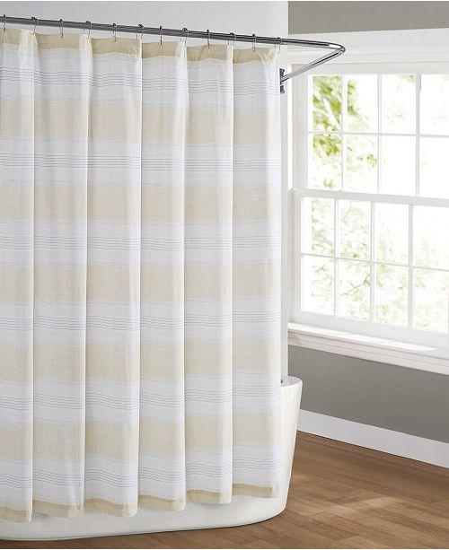 Cottage Classics Farmhouse Stripe Shower Curtain