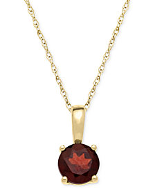 Garnet Pendant Necklace in 14k Gold (5/8 ct. t.w.)
