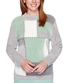 Lake Geneva Patchwork Chenille Sweater