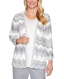 Lake Geneva Chevron-Print Layered-Look Sweater