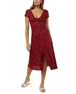O'neill Juniors' Rina Printed Midi Dress In Red