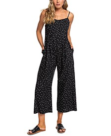 Juniors' In A Sunrise Printed Cropped Jumpsuit