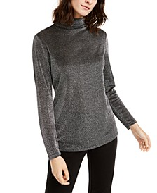 Metallic Turtleneck Top, Created For Macy's