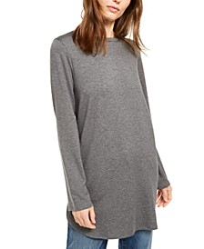 Long-Sleeve Crewneck Tunic Top, Regular & Petite