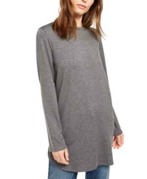 Eileen Fisher Tops LONG-SLEEVE CREWNECK TUNIC TOP, REGULAR & PETITE
