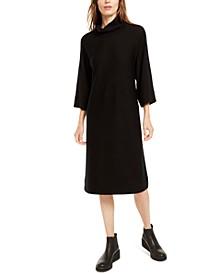 Mock-Neck Wool Sweater Dress