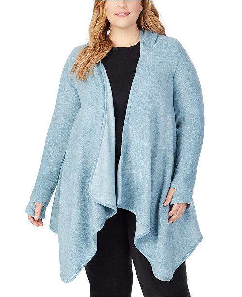 Cuddl Duds Plus Size Fleecewear With Stretch Hooded Wrap