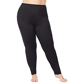Plus Size Softwear Lace-Edge Leggings