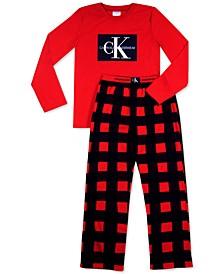 Big Boys 2-Pc. Logo Fleece Pajamas Set