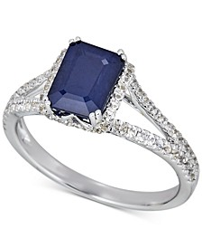 Sapphire (1-1/2 ct. t.w.) & White Sapphire (1/5 ct. t.w.) Ring in 14k Rose Gold (Also in Certified Ruby & Emerald)