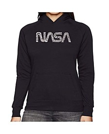 Women's Word Art Hooded Sweatshirt -Worm Nasa