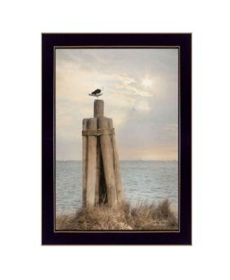 Birds Eye View By Lori Deiter, Printed Wall Art, Ready to hang, White Frame, 14