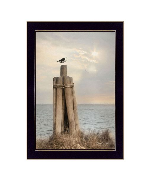 "Trendy Decor 4U Trendy Decor 4U Birds Eye View By Lori Deiter, Printed Wall Art, Ready to hang, Black Frame, 14"" x 20"""