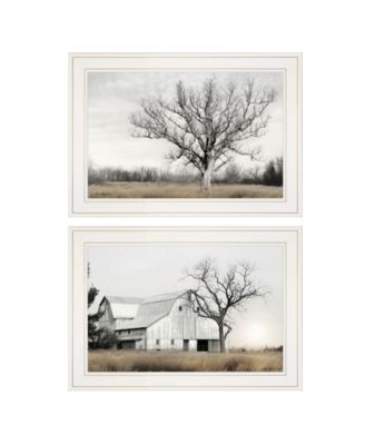 "Ohio Fields I 2-Piece Vignette by Lori Deiter, White Frame, 21"" x 15"""