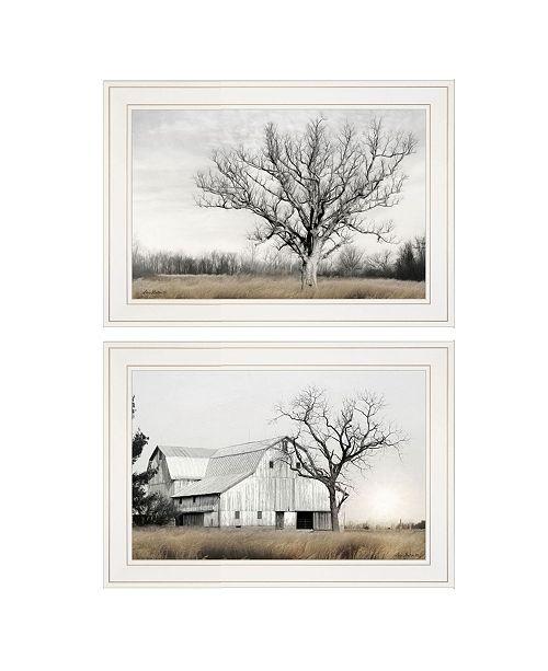"Trendy Decor 4U Trendy Decor 4U Ohio Fields I 2-Piece Vignette by Lori Deiter, White Frame, 21"" x 15"""