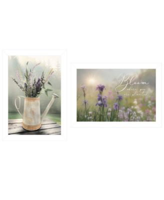 Bloom Where You are Planted 2-Piece Vignette by Lori Deiter, White Frame, 21