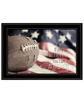 Football - Believe It by Lori Deiter, Ready to hang Framed Print, White Frame, 21