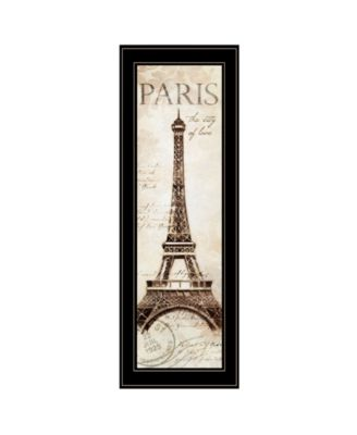 """Paris Panel by Cloverfield Co, Ready to hang Framed Print, Black Frame, 8"""" x 23"""""""