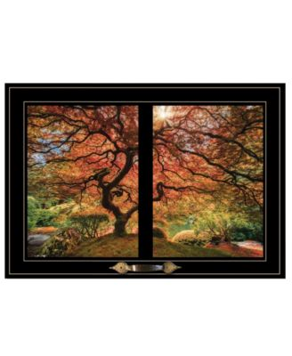 """First Colors of Fall I by Moises Levy, Ready to hang Framed Print, Black Window-Style Frame, 21"""" x 15"""""""