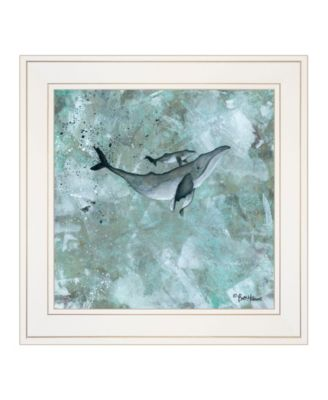 """Simplicity Humpback by Britt Hallowell, Ready to hang Framed Print, White Frame, 15"""" x 15"""""""