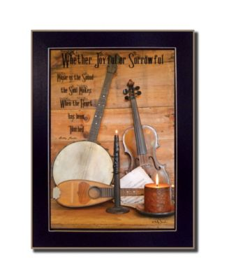 """Music By Billy Jacobs, Printed Wall Art, Ready to hang, Black Frame, 14"""" x 20"""""""