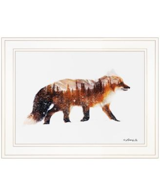 """Arctic Red Fox by andreas Lie, Ready to hang Framed Print, White Frame, 15"""" x 19"""""""