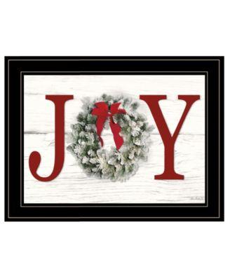 Christmas Joy by Lori Deiter, Ready to hang Framed Print, White Frame, 21