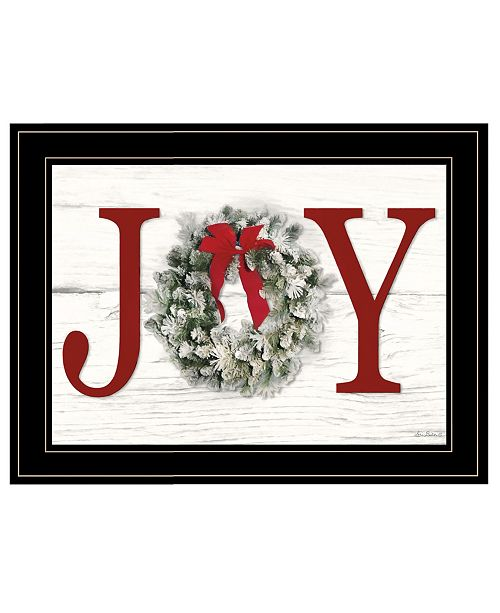 "Trendy Decor 4U Trendy Decor 4U Christmas Joy by Lori Deiter, Ready to hang Framed Print, Black Frame, 21"" x 15"""
