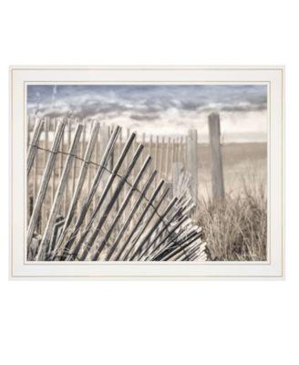 "On The Coastline by Lori Deiter, Ready to hang Framed Print, White Frame, 27"" x 21"""