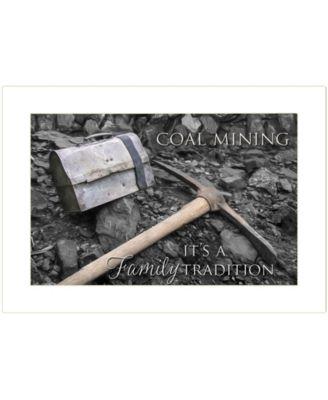 "Coal Mining by Lori Deiter, Ready to hang Framed Print, White Frame, 20"" x 14"""
