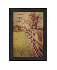 """Life Goes On By Kathy Jennings, Printed Wall Art, Ready to hang, Black Frame, 14"""" x 20"""""""